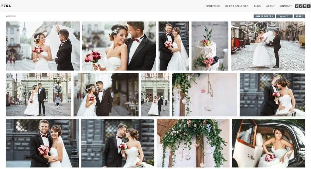 Configuración de un sitio web para fotografía