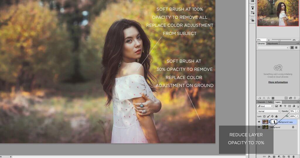 cambiar el color de la imagen en photoshop