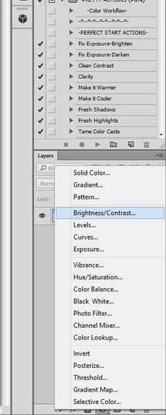 cómo ajustar el brillo y el contraste en Photoshop