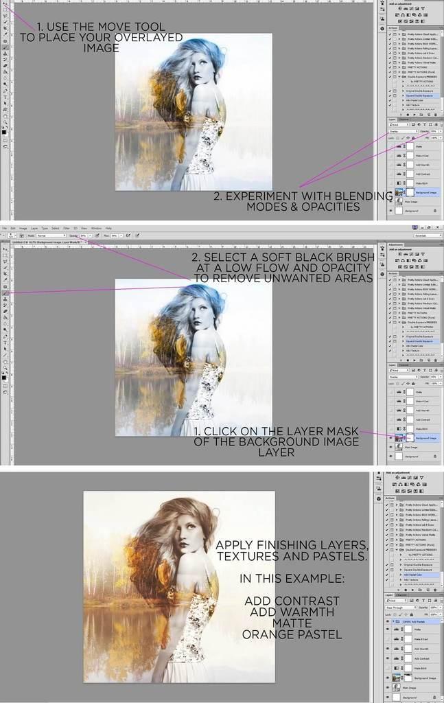 Tutorial de photoshop de doble exposición