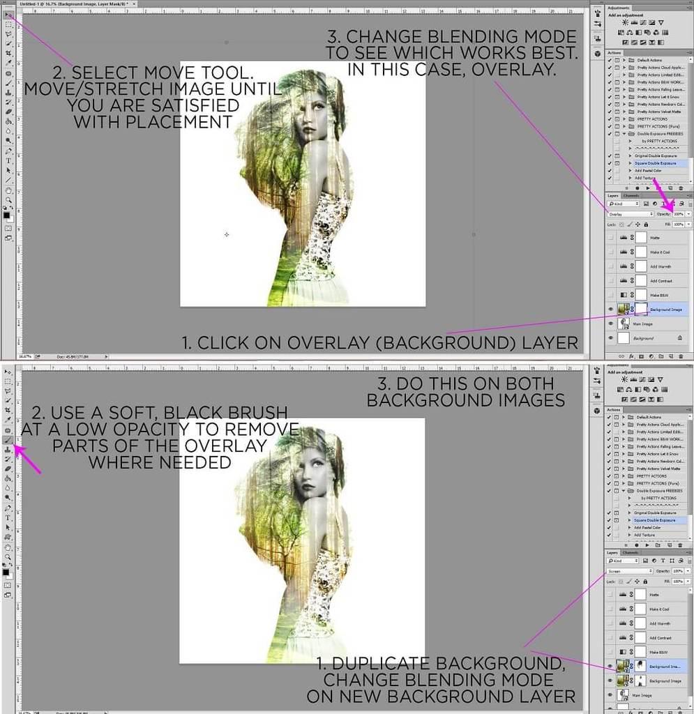 Photoshop de doble exposición paso a paso