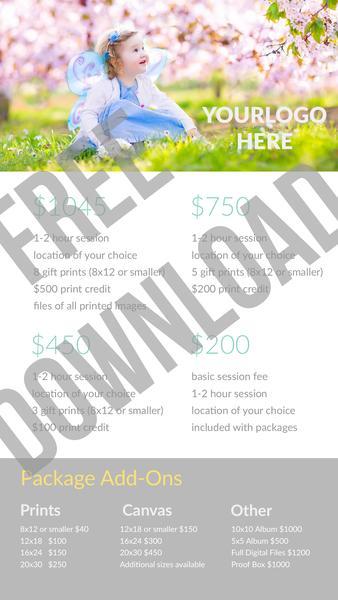 Guía de precios gratuita para fotógrafos de Pretty Presets para Lightroom