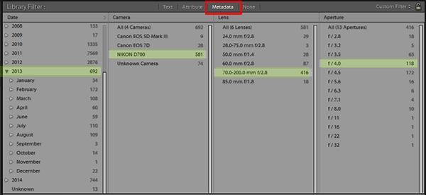Cómo utilizar filtros de biblioteca para ordenar y administrar sus imágenes en Lightroom