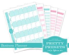 Planificador de negocios Pretty Presets