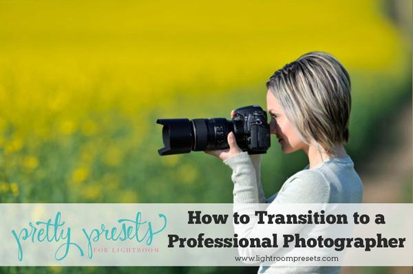 ¿Cómo hago la transición a un fotógrafo a tiempo completo?