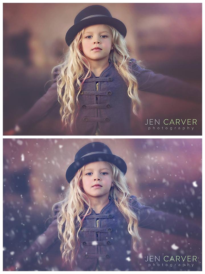 Pinceles de nieve Pretty Actions para Photoshop