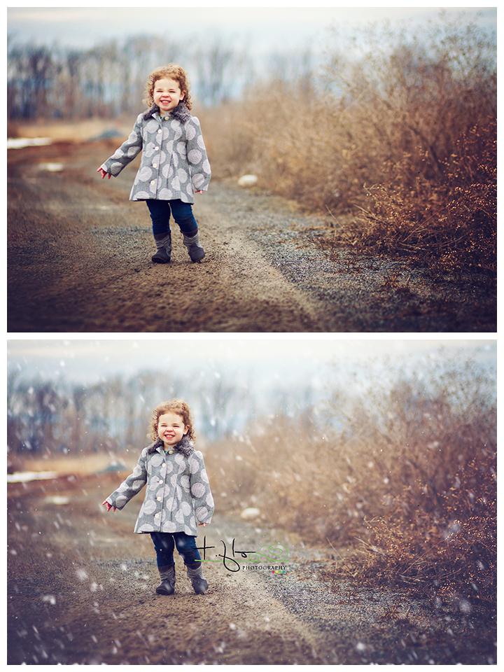 Uso de cepillos de nieve de Pretty Actions