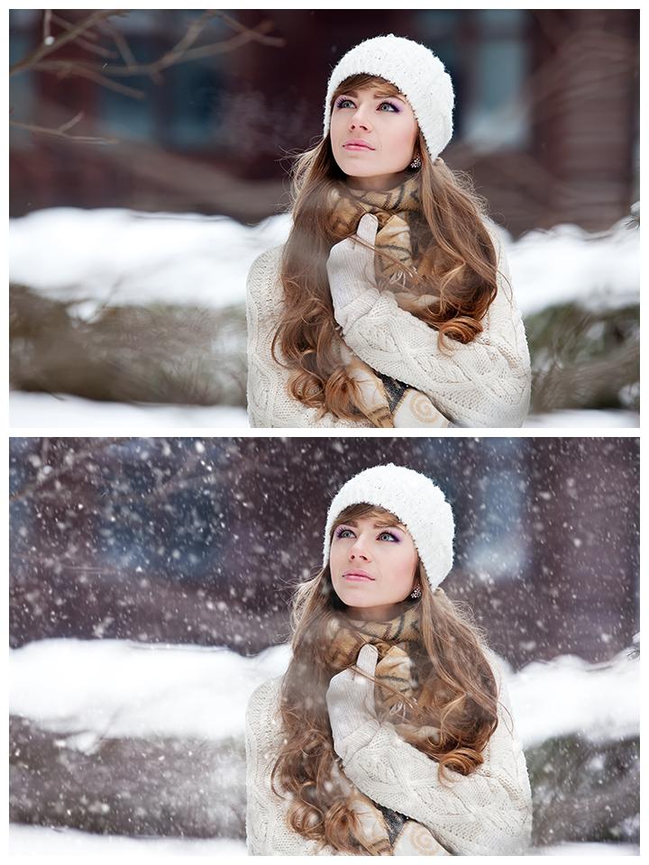 Agregar nieve en Photoshop