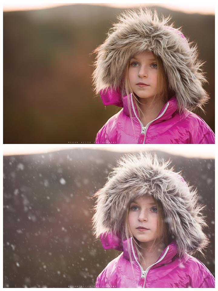 Agregar nieve en Photoshop usando acciones bonitas