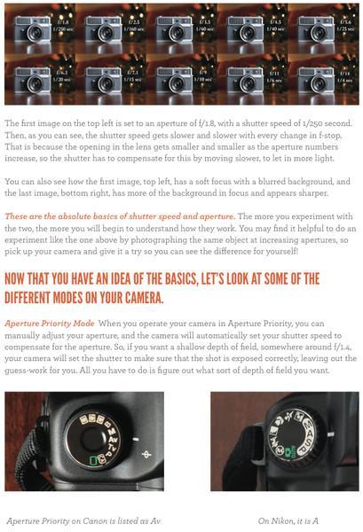 Introducción a la DSLR 101 |  Descargar Pretty Presets Free Photography