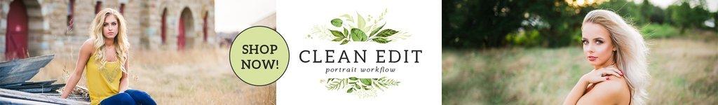 Flujo de trabajo de edición limpia del retrato