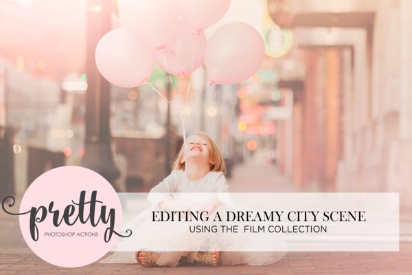 Mejora de fotos de la ciudad con acciones de película de Photoshop