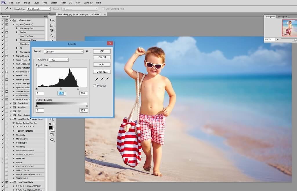 mezcla de superposiciones de cielo en photoshop