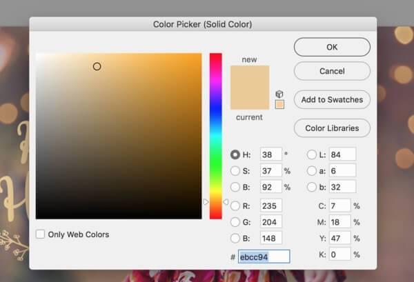 cómo cambiar el color de una capa en photoshop
