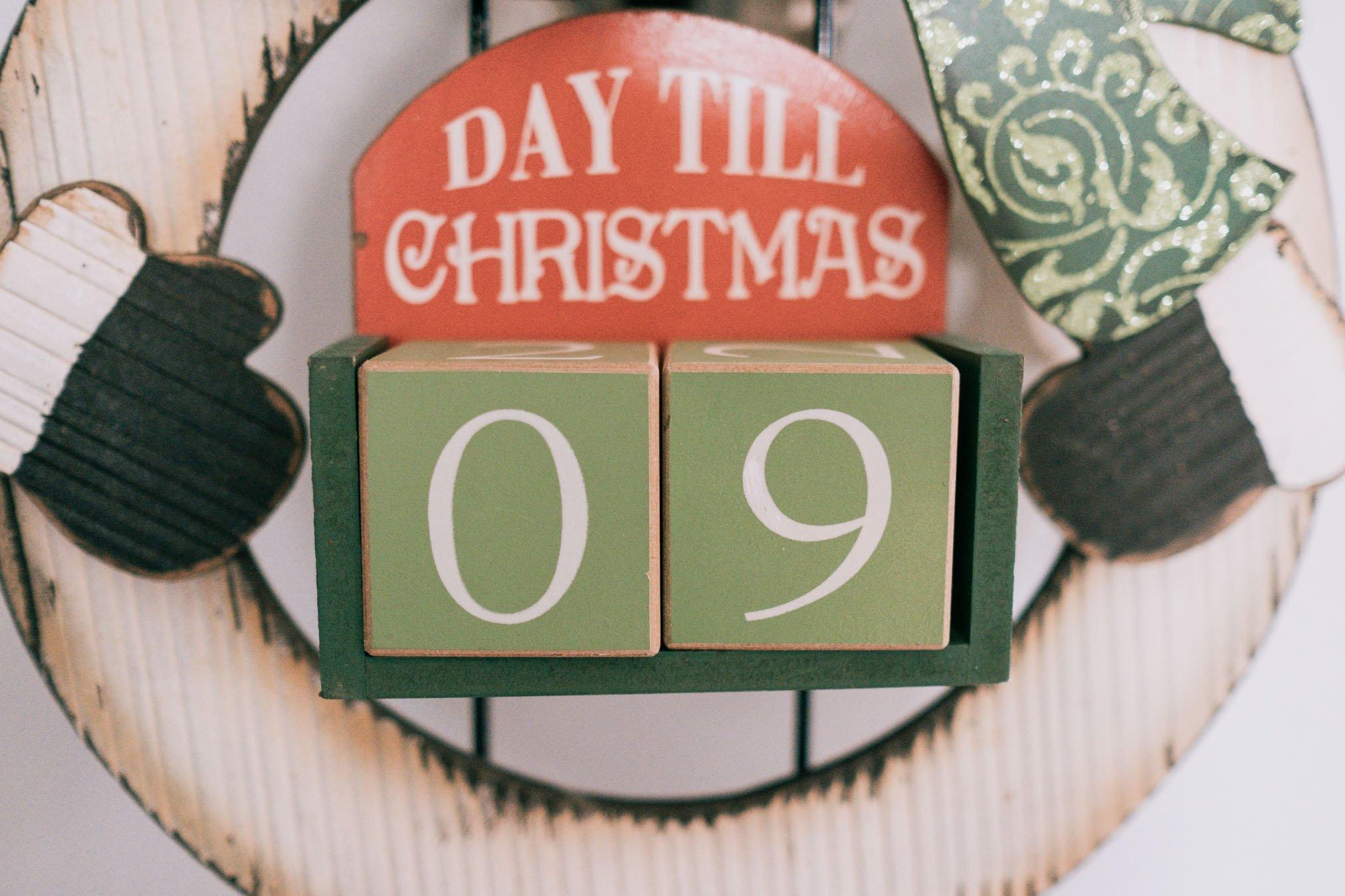 Foto de un cartel de Días hasta Navidad