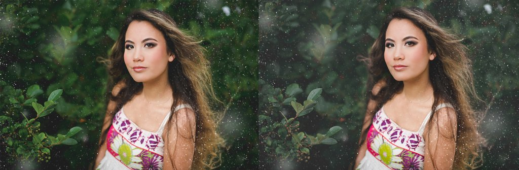 Use pinceles de copo de nieve de Photoshop para agregar nieve real a las imágenes