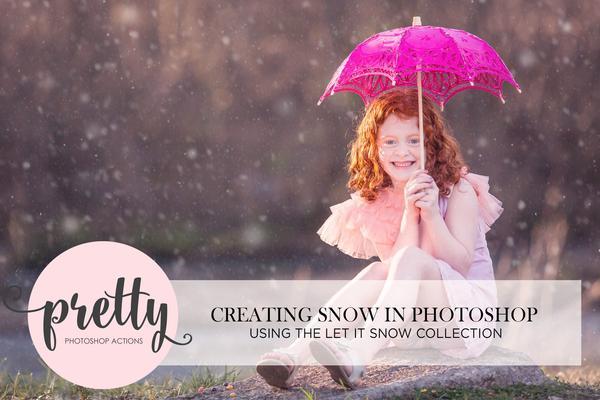 """""""Let It Snow"""" – Tutorial de colección de pinceles y acción de Photoshop de invierno"""