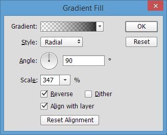 Viñeta en Photoshop: cómo ajustar el relleno de degradado para viñeta