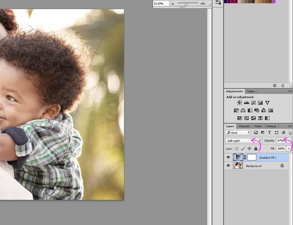Photoshop herramienta viñeta
