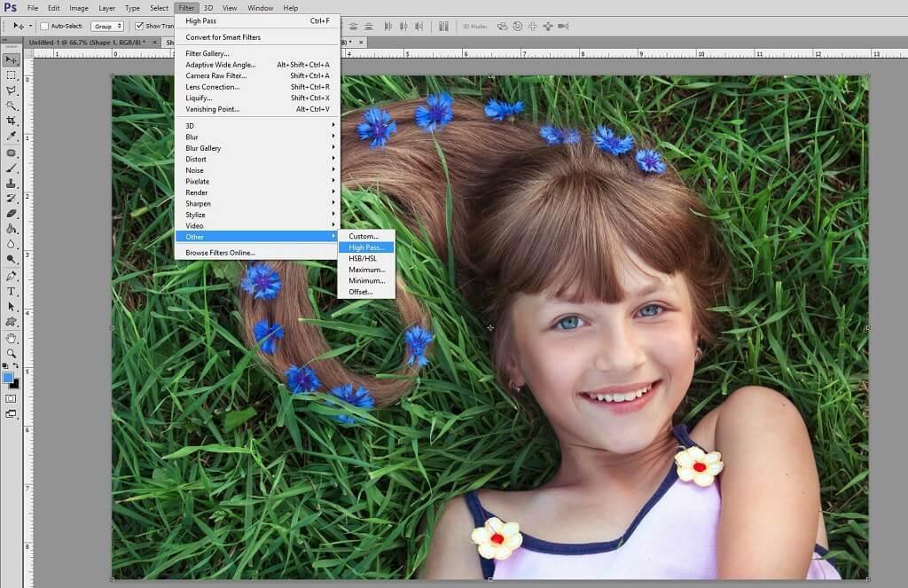 Uso del filtro de paso alto en Photoshop para enfocar la foto
