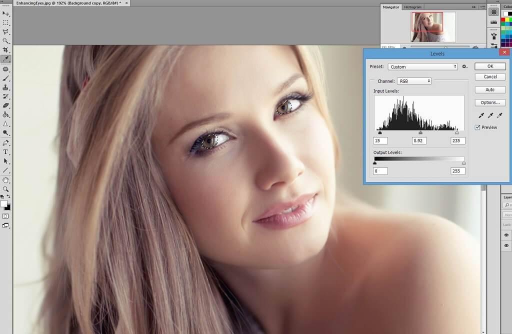 Cómo aclarar el iris en Photoshop