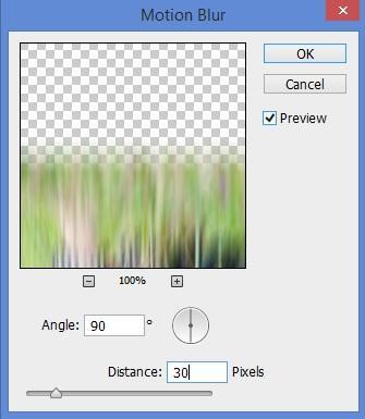 Agregar desenfoque a la reflexión en Photoshop