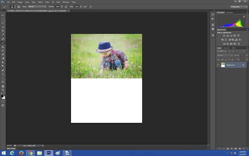 Cómo hacer reflejos en Photoshop
