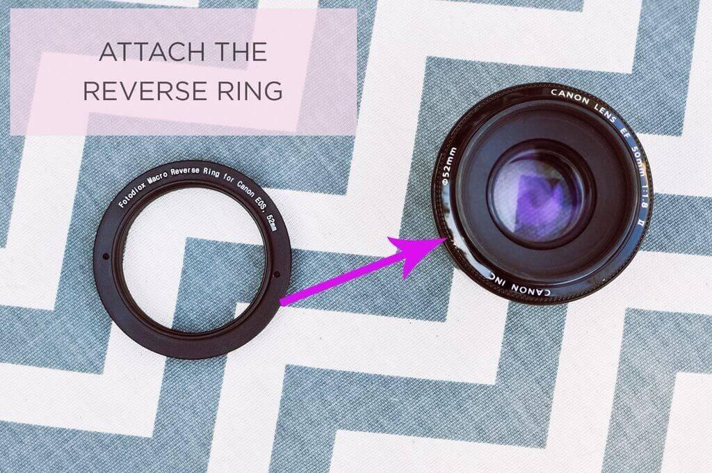 Anillo inverso para Canon 50mm