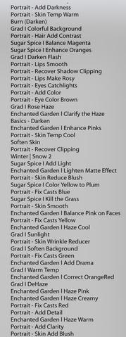 Pinceles de Lightroom todos mezclados después de la actualización
