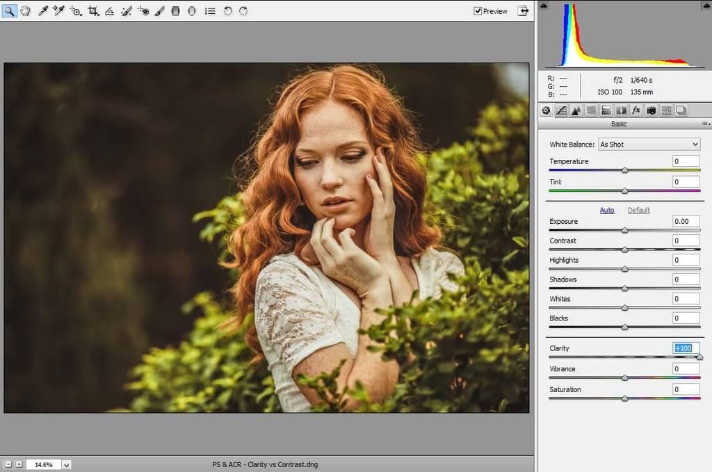 cómo ajustar la claridad en photoshop