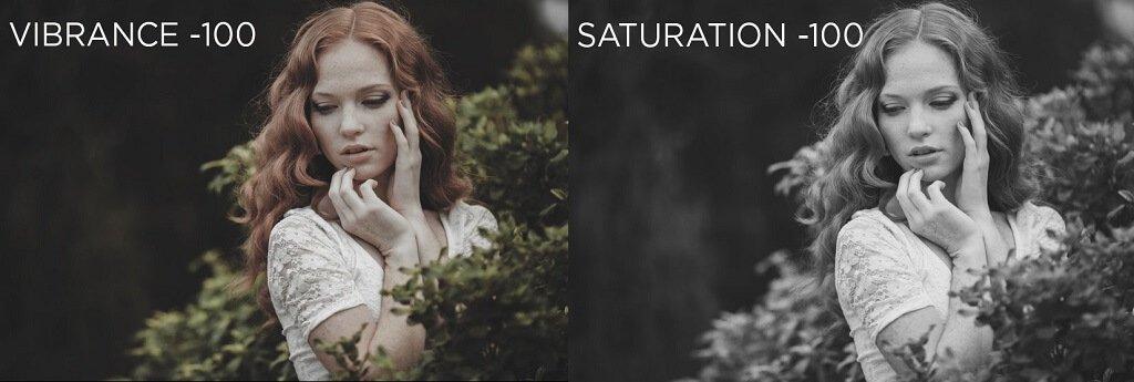 saturación de fotos
