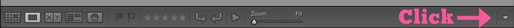 personalización de la barra de herramientas de la biblioteca en Lightroom