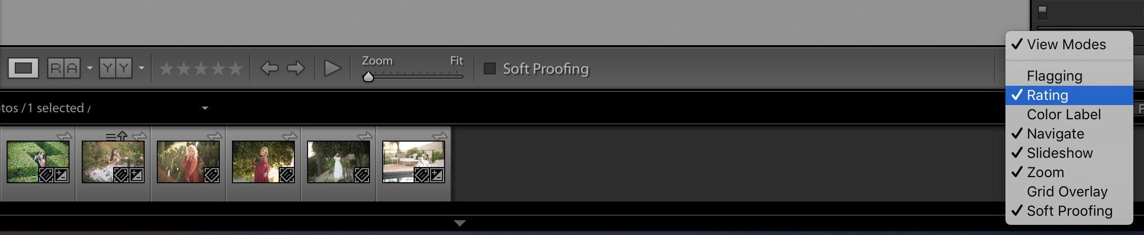 Personalización de la interfaz de Lightrom
