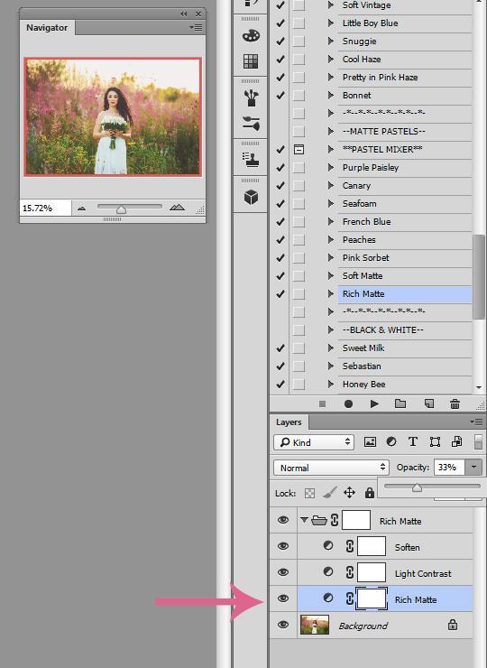 Ajustar efectos mate en Photoshop