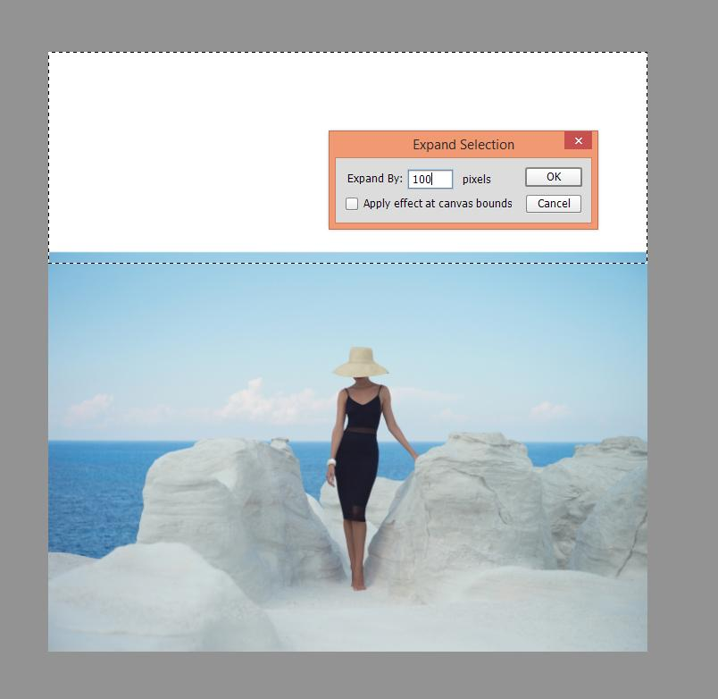 Uso de la herramienta de recorte de Photoshop para expandir su marco