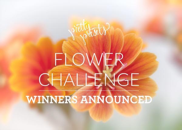 Ganadores del Flower Photo Challenge: Pretty Presets para Lightroom