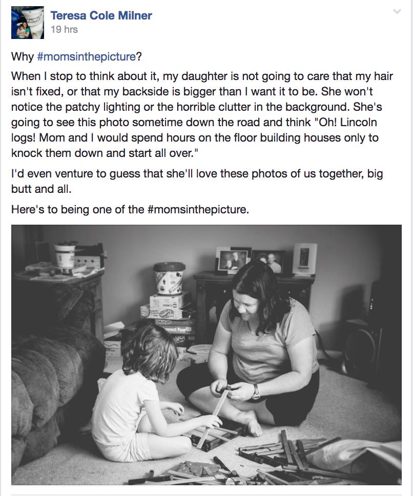 Desafío fotográfico de mamá en la foto