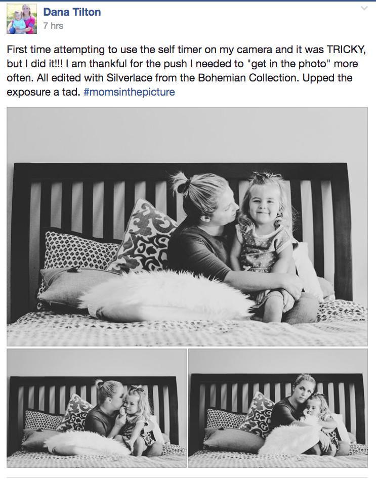 Desafío fotográfico: mamá está en la foto