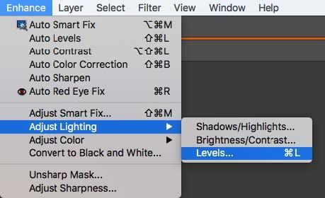 Photoshop ajustar los niveles de iluminación