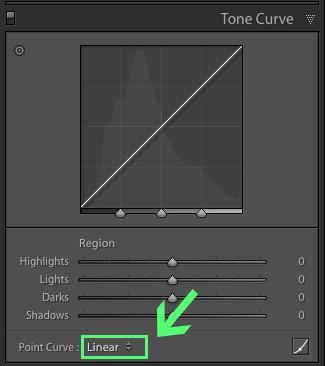 Cómo obtener una curva de contraste medio en Lightroom