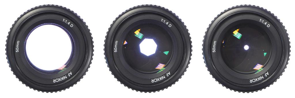 Objetivo Nikon 50 mm f / 1.4 - Diferentes aperturas