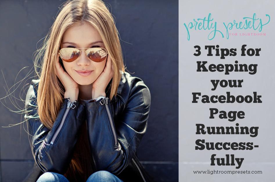 3 consejos para mantener su página de Facebook funcionando correctamente
