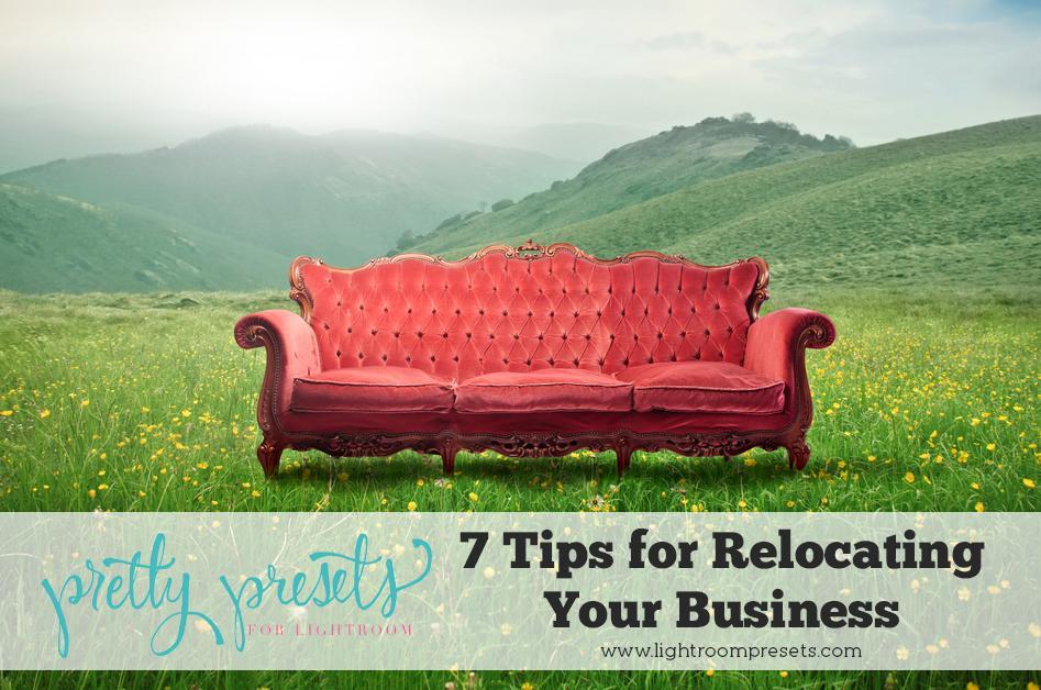 7 consejos para reubicar su negocio de fotografía