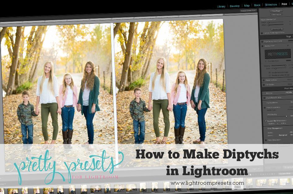 Cómo hacer dípticos en Lightroom