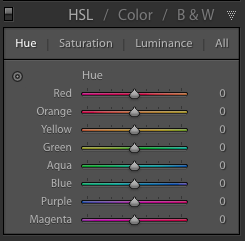 cómo usar el hsl en lightroom