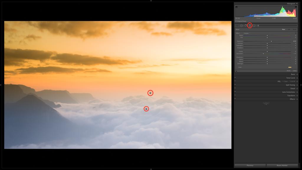 Cómo utilizar el filtro graduado en Lightroom para fotografías de paisajes