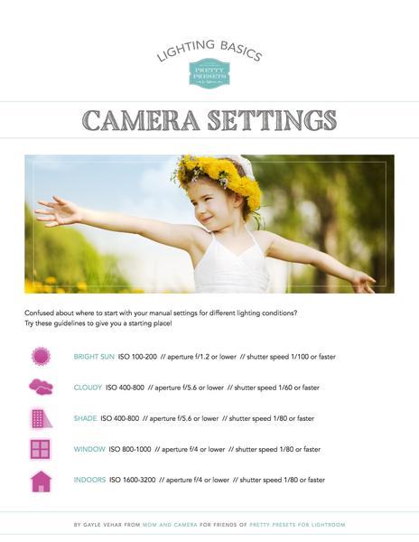 Conceptos básicos de iluminación: hoja de referencia de configuración de la cámara