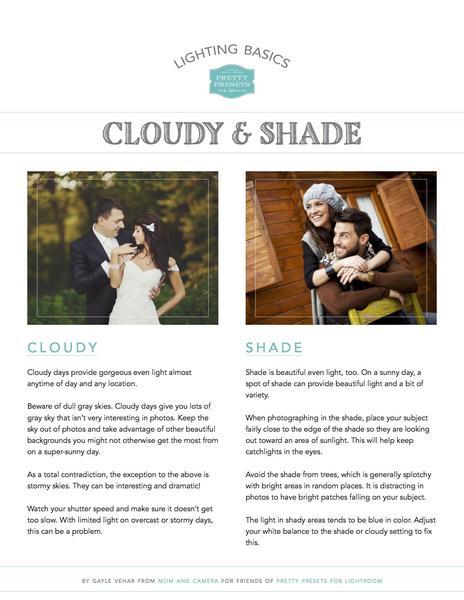 Conceptos básicos de iluminación: hoja de referencia para nubes y sombras