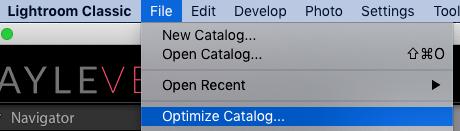 cómo crear un catálogo en Lightroom