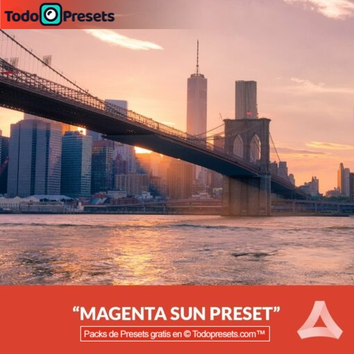 Aurora HDR Preset Magenta Sun gratis